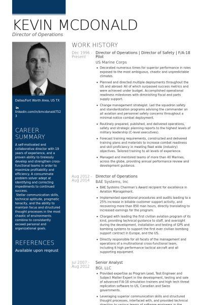 Director Of Operations Resume samples - VisualCV resume samples ...