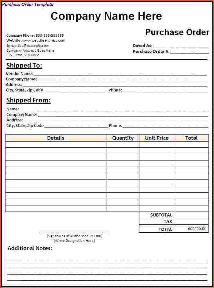 5+ purchase order template word - bookletemplate.org