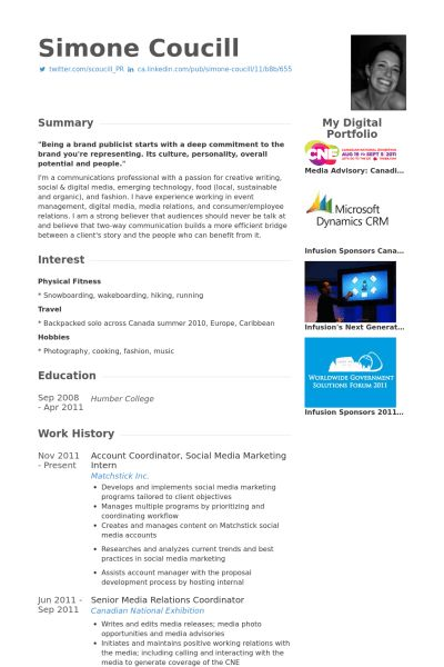 Account Coordinator Resume samples - VisualCV resume samples database