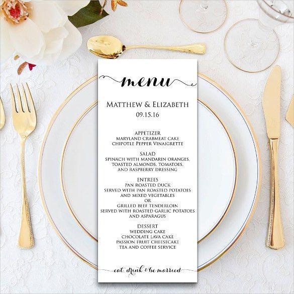29+ Dinner Menu Templates – Free Sample, Example Format Download ...
