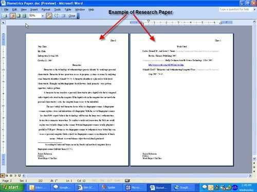 Appendix of research paper sample