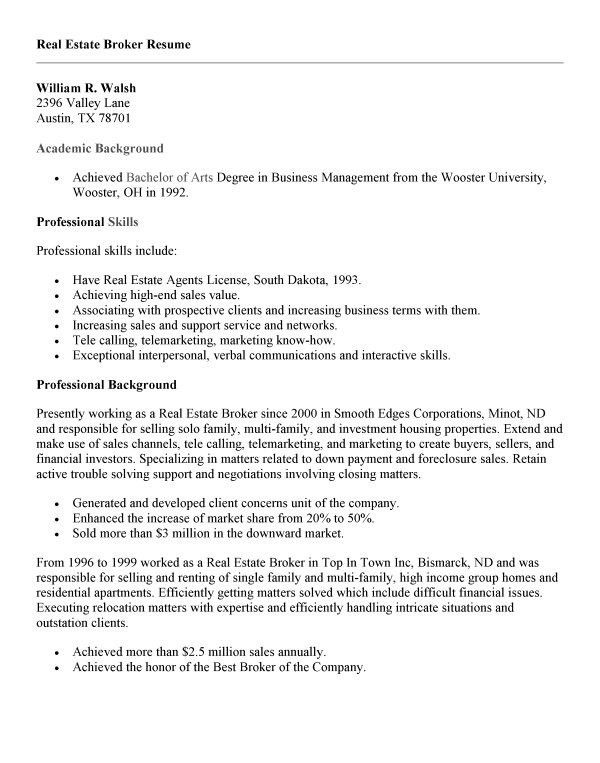 realtor resume sample real estate agent resume example realtor ...