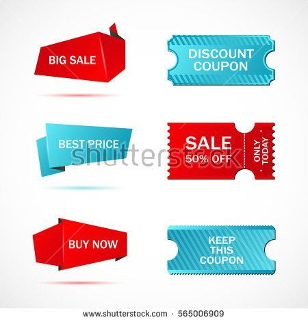 Vector Stickers Price Tag Banner Label Stock Vector 435401941 ...