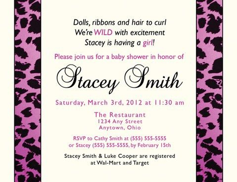 Baby Shower Invitation Examples - Themesflip.Com