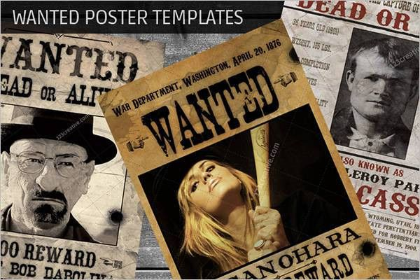 45+ Wanted Poster Templates || Free & Premium Templates | Creative ...