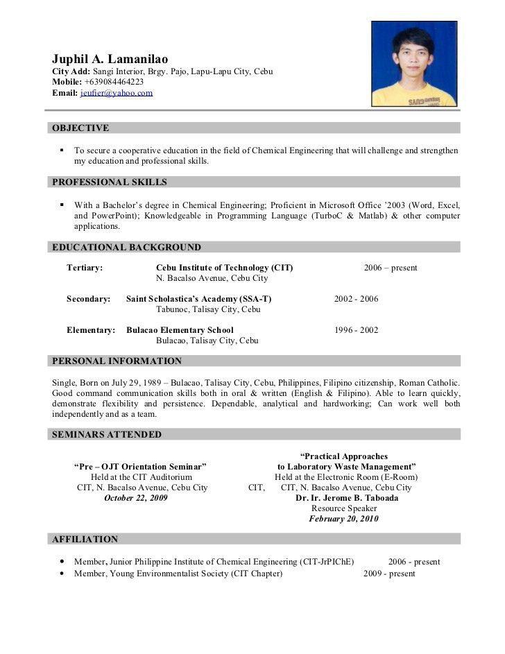 Download Sample Resume | haadyaooverbayresort.com