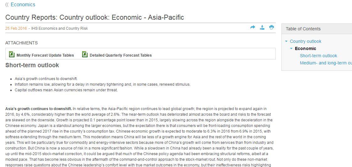 Advanced Country Analysis & Forecasting - Economic Forecasts ...