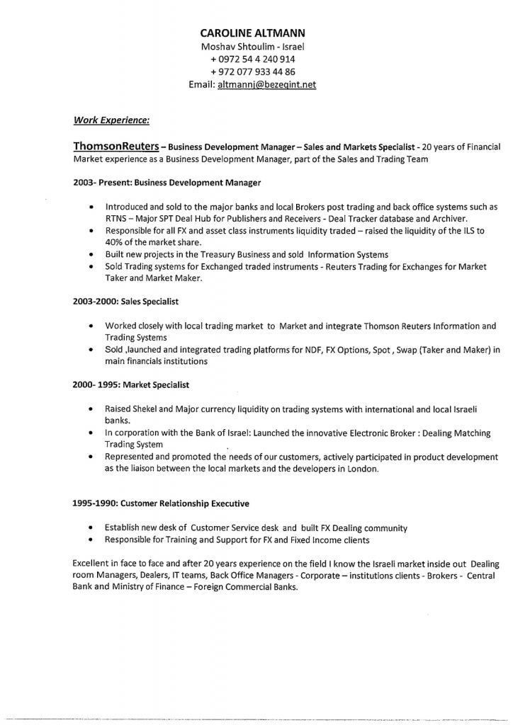 Business Resume. Business Resume Sample 8 Business Resume Examples ...