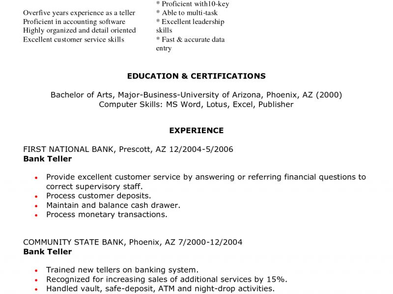 Neoteric Teller Resume 16 Bank Teller Resume Objective - Resume ...
