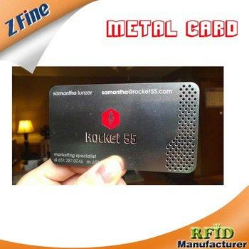 0.3mm Elegant Sample Membership Card Printing Black Gift Metal ...