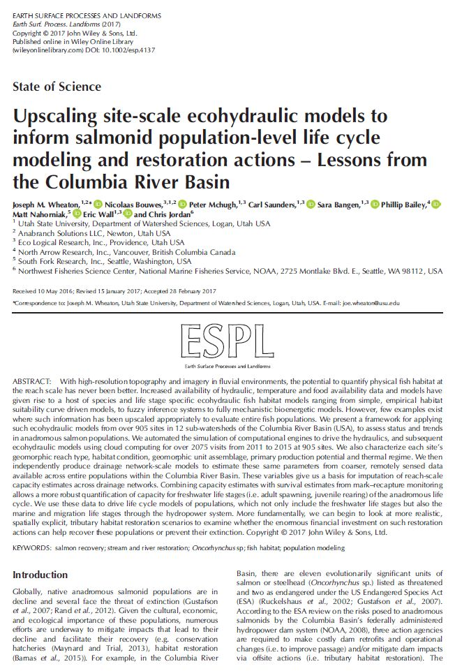 News - et al - FHC - ELR : Ecogeomorphology & Topographic Analysis ...