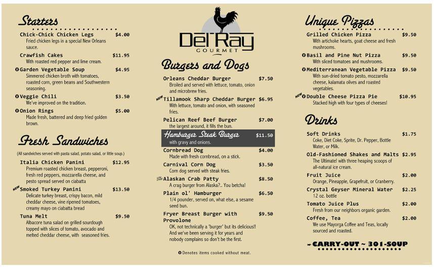 restaurant menu word template - Template