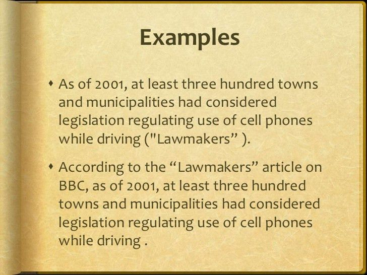 In text citation lesson