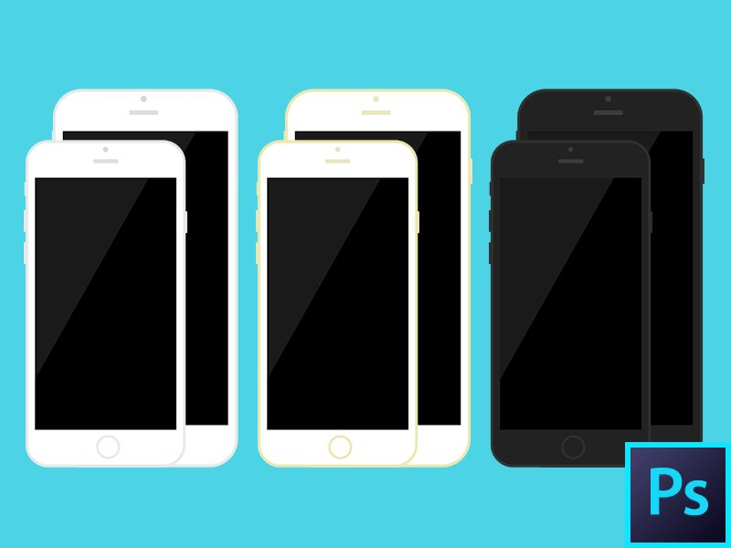 Free & open source, iPhone 6 / iPhone 6 Plus PSD vector templates ...
