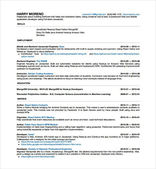 Sample Android Developer Resume - 6+ Free Documents in PDF