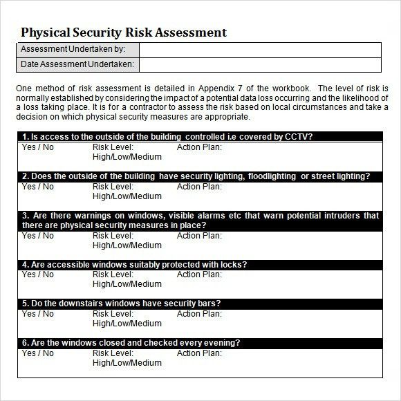 Security Risk Assessment - 9+ Download Free Documents in PDF, Word ...