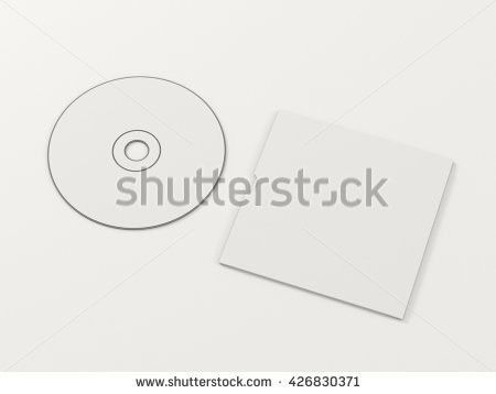 Cd Disc Carton Packaging Cover Template Stock Illustration ...