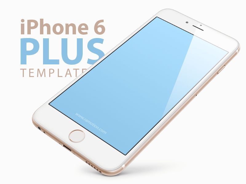iPhone 6 Template Mockup [PSD] by Ramotion - Dribbble