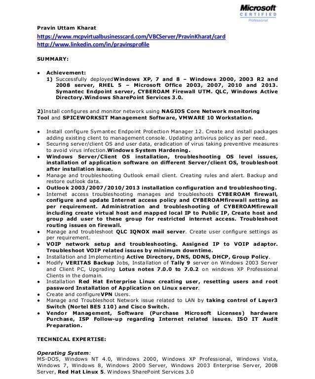 linux system administrator job description system administrator