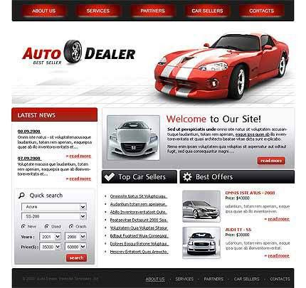 Car Dealer Website Template #1029, Css website flash 8 at Website ...