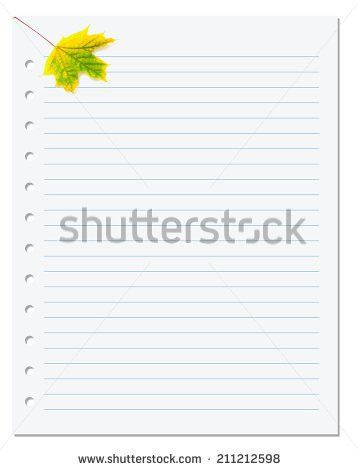 Vector Printing Paper Note Cute Paper Stock Vector 565822612 ...