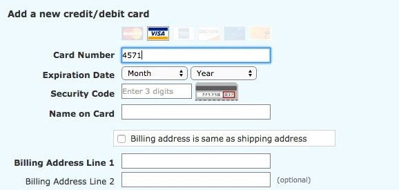 The 'Credit Card Number' Field Must Allow and Auto-Format Spaces ...