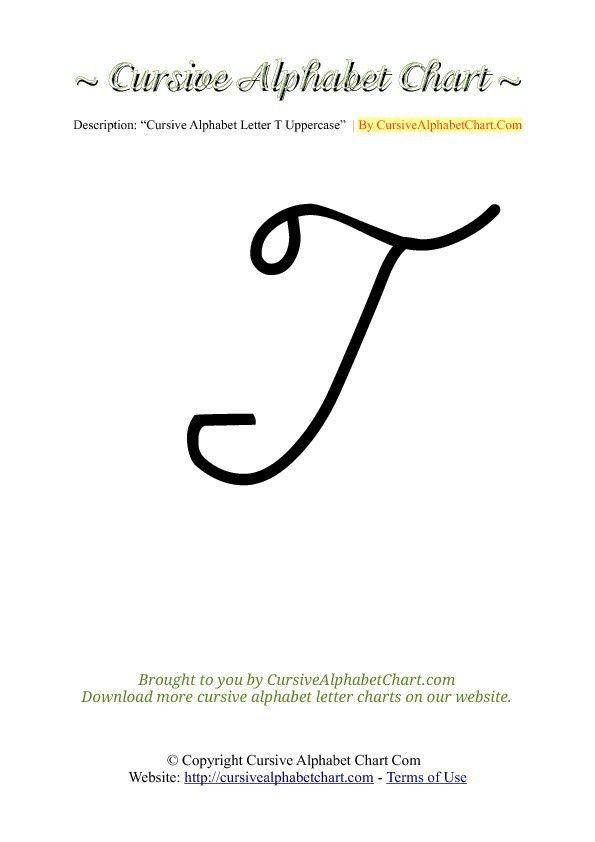 Cursive Alphabet Charts A - Z Uppercase | Cursive Alphabet Chart.com