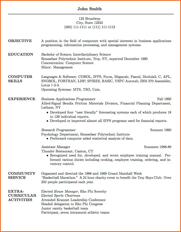 7 curriculum vitae format for job application - Budget Template Letter