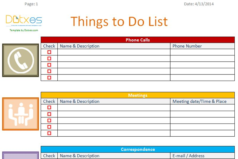To do list template (Business Version) - Dotxes