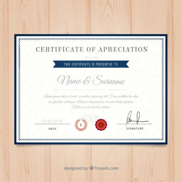 University Certificate Template Vector | Free Download