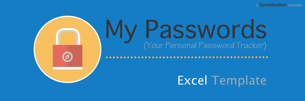 My Passwords - Your Personal Password Tracker Log — The ...