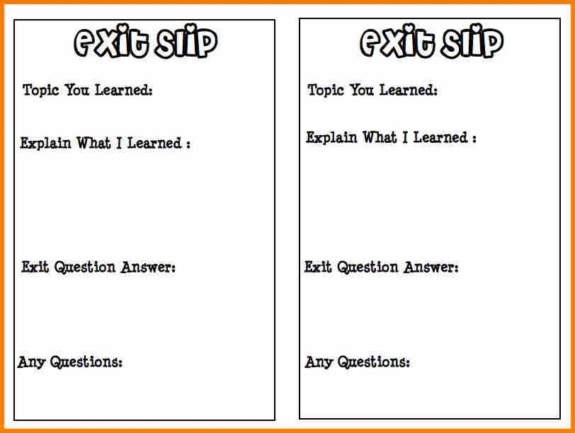7+ exit slip template | resume reference
