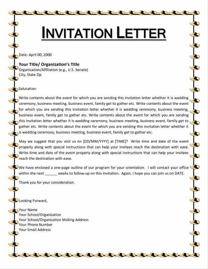 formal government invitation letter : Cogimbo.us