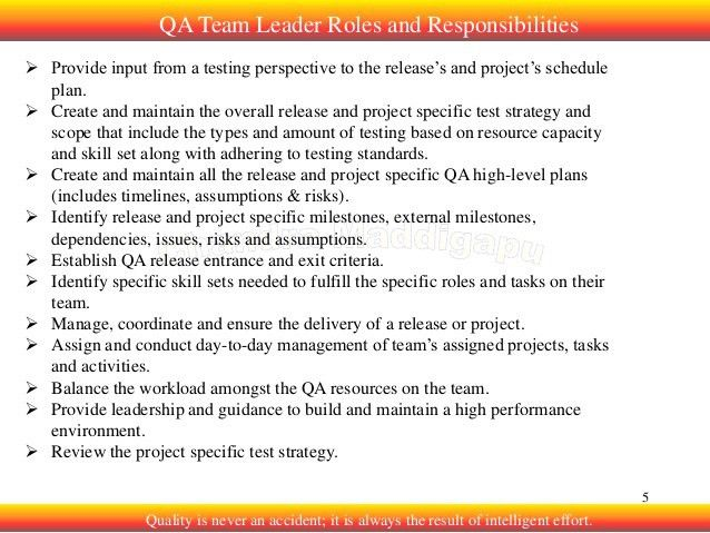 2. Softare QA roles and responsibilities
