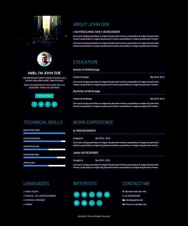 Creative Designer Resume Template - Free Samples , Examples ...