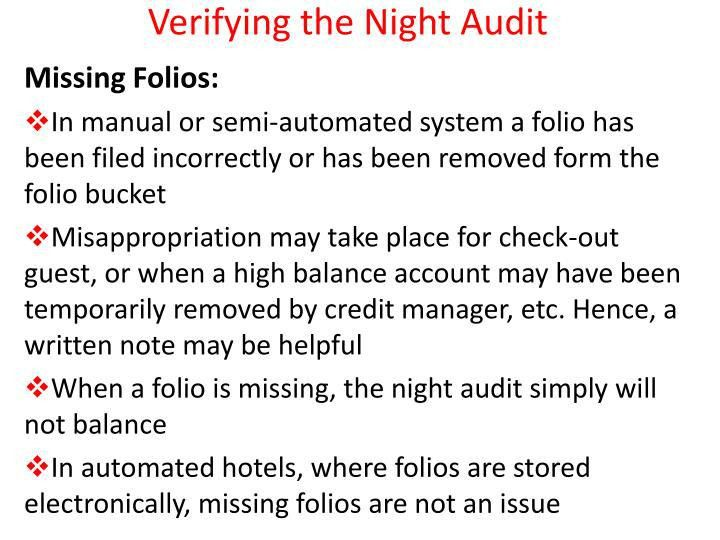 PPT - Night Audit PowerPoint Presentation - ID:1505923