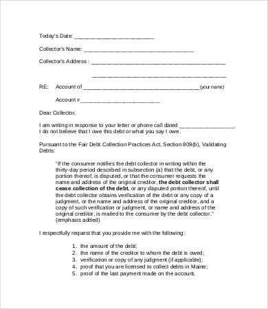 Collection Letter. Collection Practices Act 5 Debt Collection ...