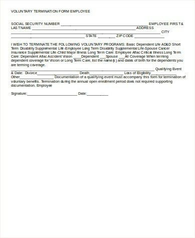 Sample Employee Termination Form - 8+ Examples in Word, PDF