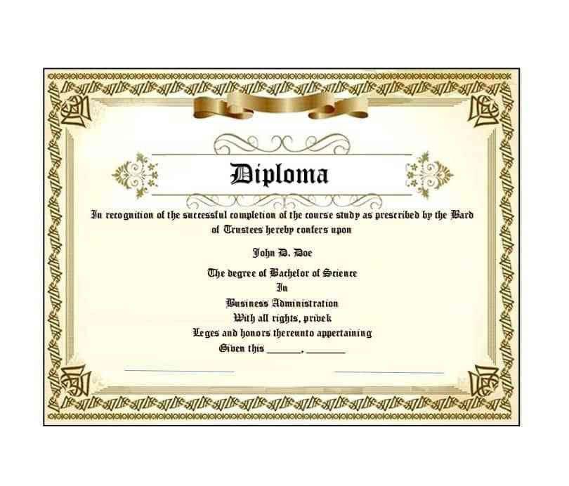 30 Real & Fake Diploma Templates (High school, College, Homeschool)