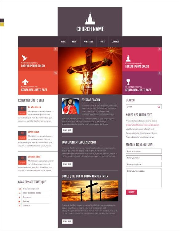 28+ Free Church Website Themes & Templates | Free & Premium Templates