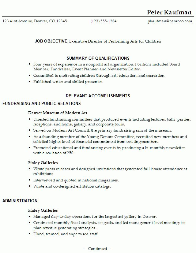 My First Resume Template