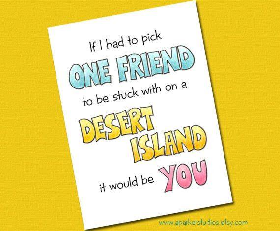 Best friend birthday card Funny Birthday Card for best
