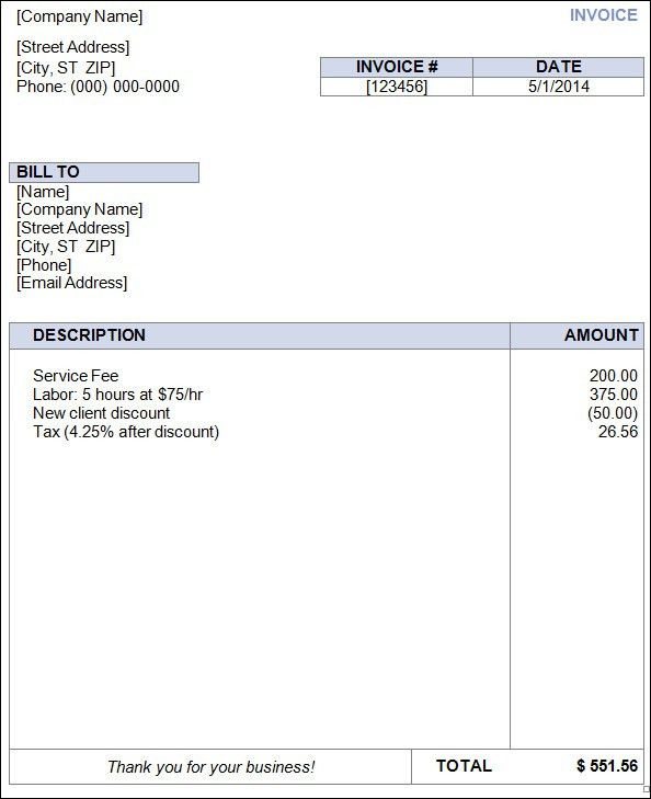 7 Best Images of Free Blank Invoice Template Microsoft - Free ...