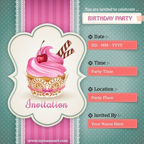Create Birthday Party Invitations Card Online Free | wishes ...