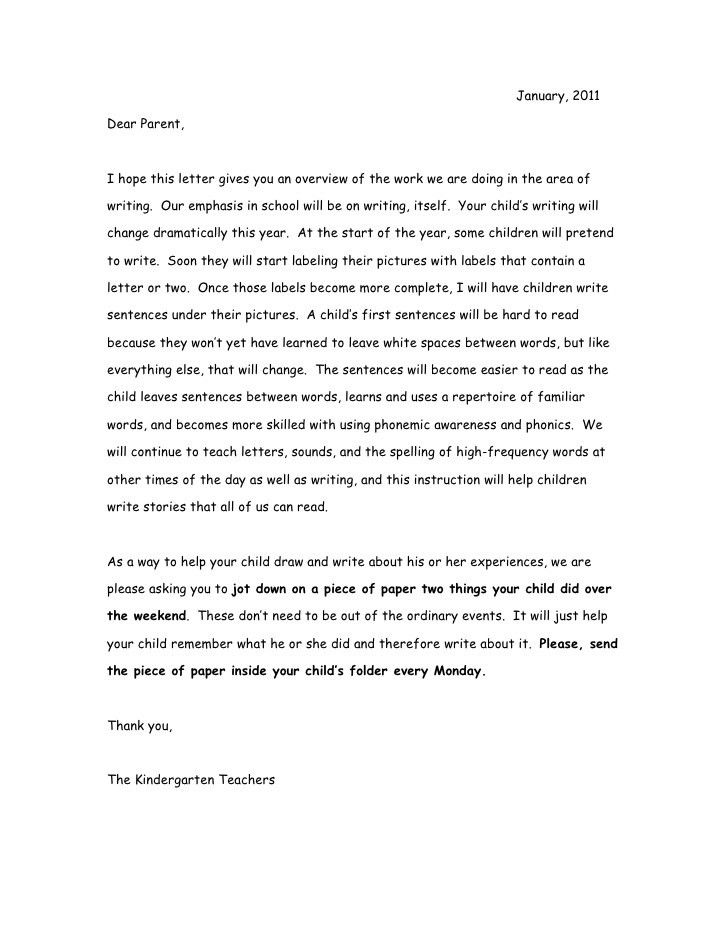 Thank You Letter To Parents. Teacher Templates Letters Parents ...