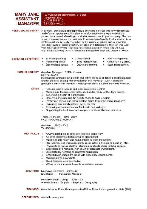 resume for a restaurant 18 amazing restaurant bar resume examples