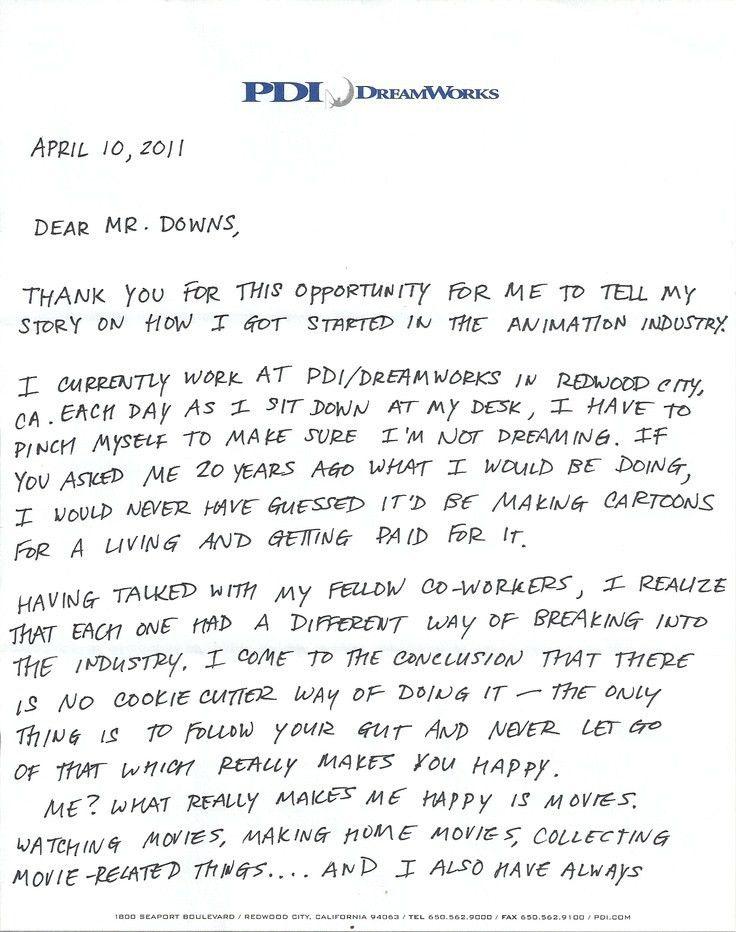 Encouraging letter (pg. 1 of 3) written by Jeff Joe, supervising ...