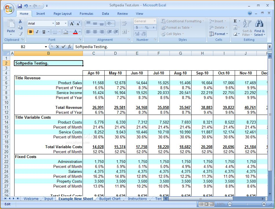 6+ business budget template excel | Outline Templates