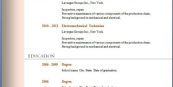 Barback Resume Resume Templates Examples Barback Job Description ...