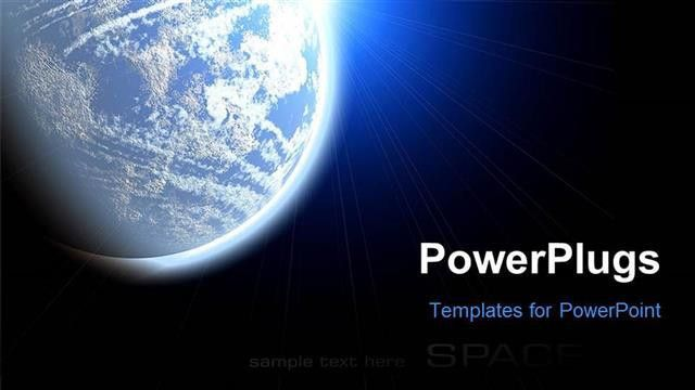 PowerPoint Template: The view of Earth from the space (3780)
